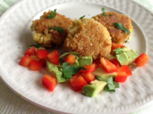 Curried Chickpea Cakes