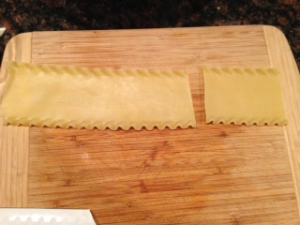 1/3 of noodle cut off