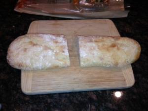 cut loaf in half