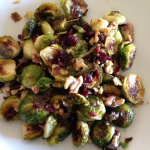 Roasted Brussel Sprouts with Walnuts and Cranberries