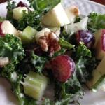 Vegan Kale Waldorf Salad