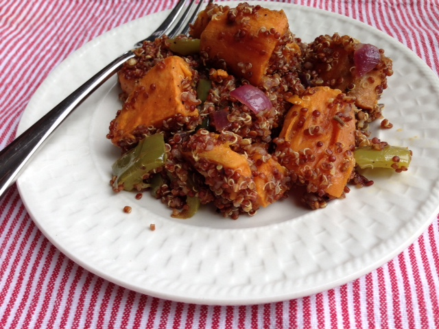 Glenna's Sweet Potato Quinoa Salad | Little Rhody Vegan