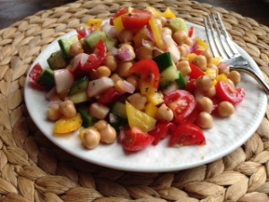 Heidi's Summertime Chickpea Salad